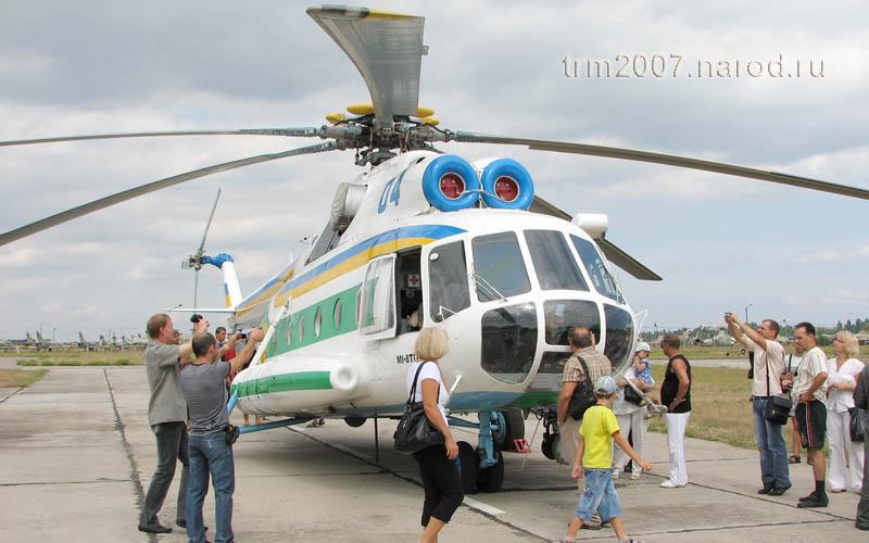 МИ-8ТП на авиашоу Одесского Школьного аэродрома