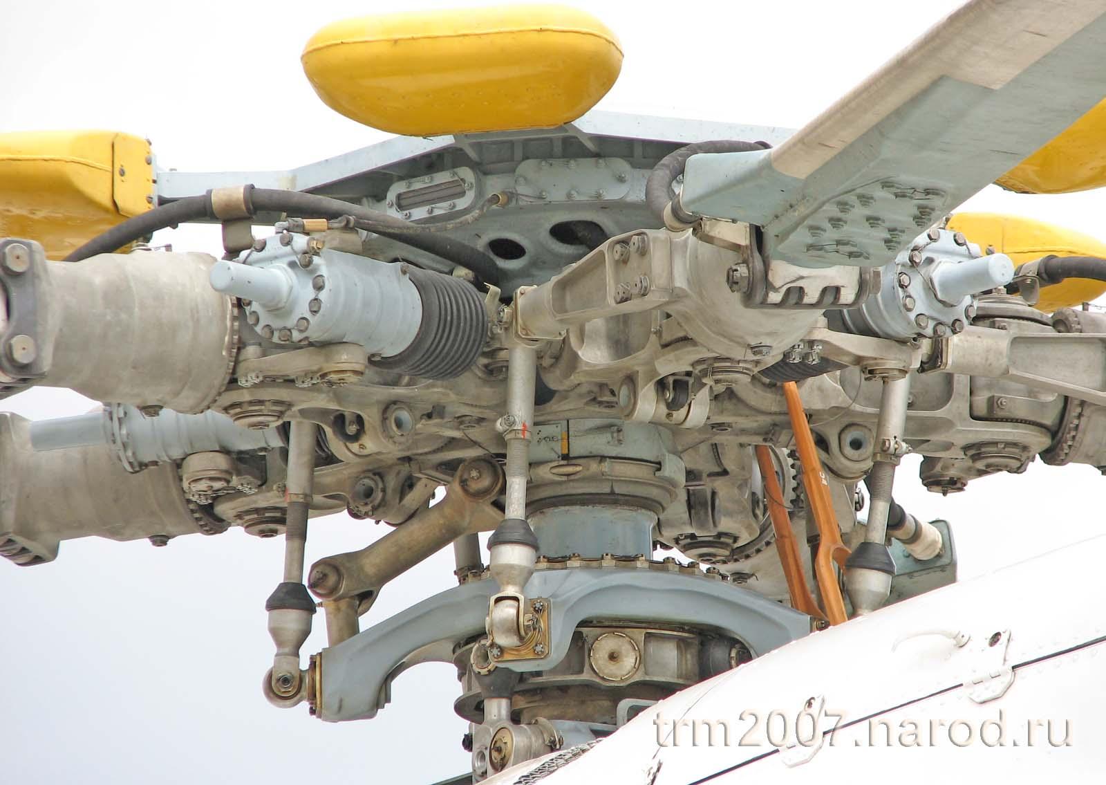 Конструкция несущего винта вертолета МИ-8ТП крупным планом