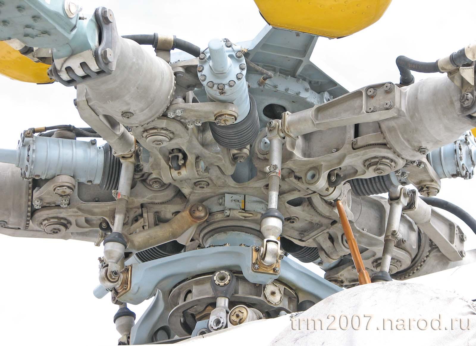 Несущий винт вертолета МИ-8ТП крупным планом