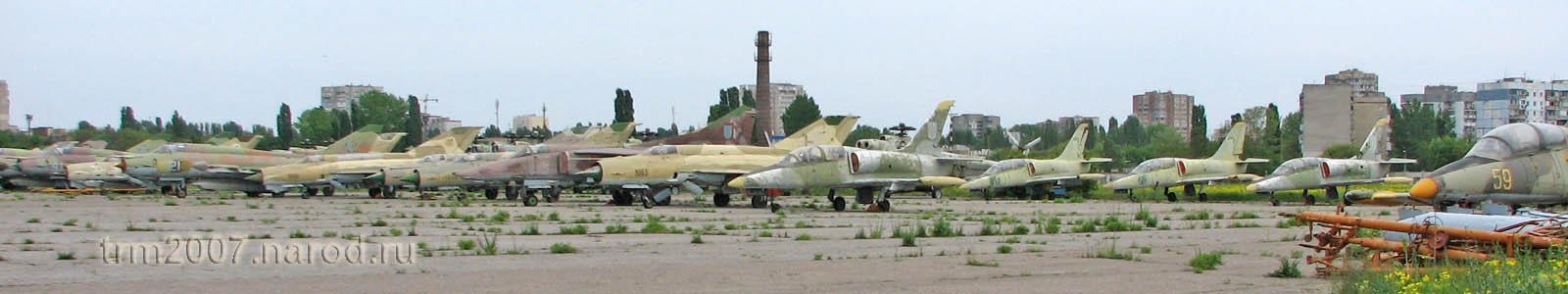 МИГ-21, Л-39 и МИГ-25 на Школьном аэродроме в Одессе