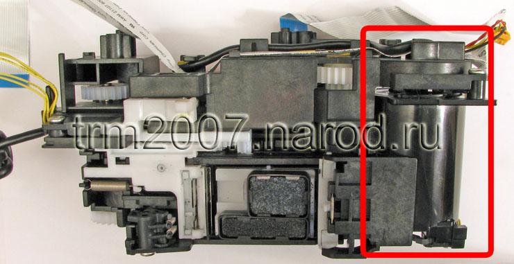 Canon Pixma IP5200 узел парковки печатающих головок