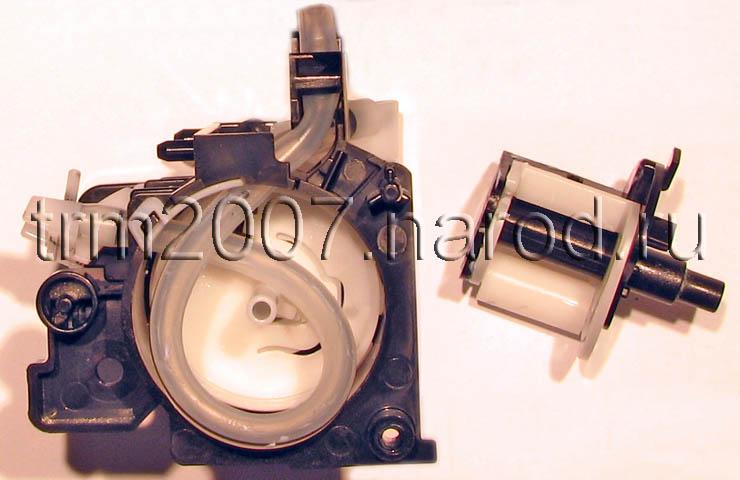 Canon Pixma IP5200 сдвоенный перистальтический насос в разобранном состоянии