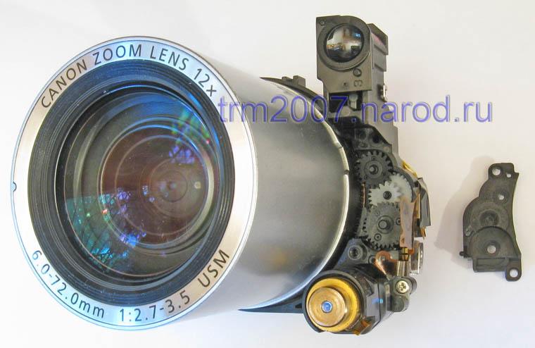 Редуктор привода объектива Canon PowerShot S2 IS