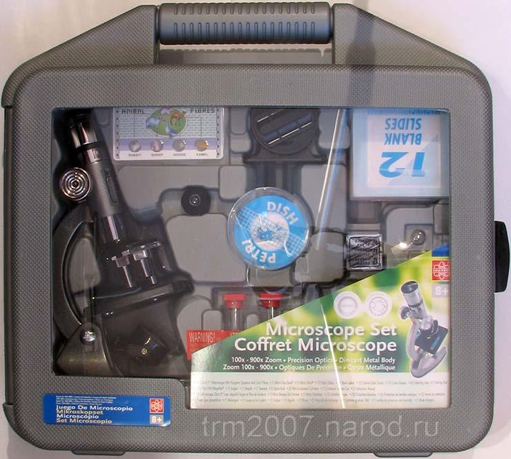 Китайский набор EDU-TOYS микроскоп MS903 в кейсе