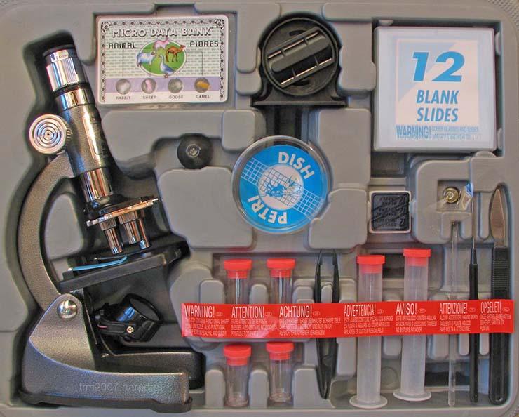 Набор микроскоп EDU-TOYS MS903 с принадлежностями в кейсе